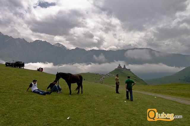 Krajobraz z wysokości w Gruzji