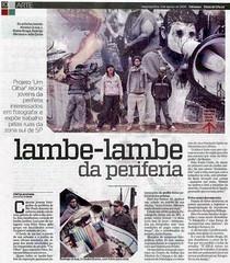 Reportagem sobre o projeto fotográfico UM OLHAR na Folhateen 03/08/2009
