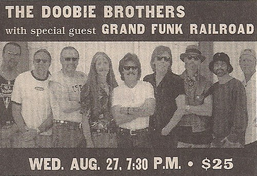 08/27/03 Doobie Brothers/Grand Funk Railroad @ Minnesota State Fair - St. Paul, MN (Ad)