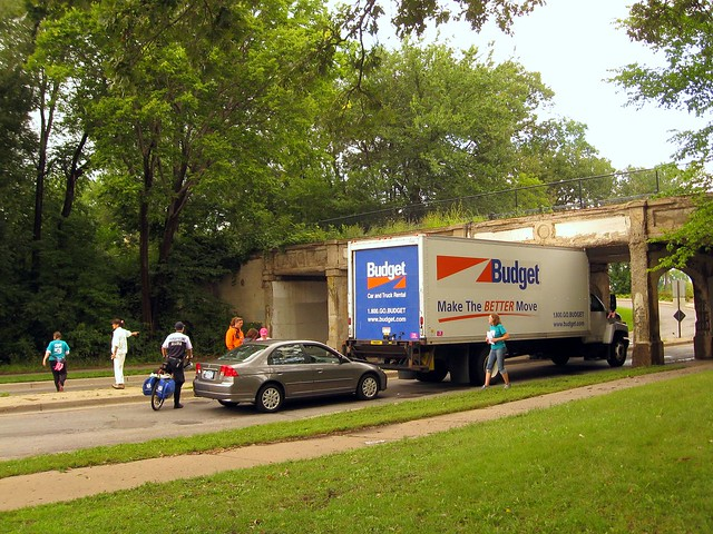 3 Day Truck Stuck Under A Bridge The Truck Got Stuck Unde Flickr Photo Sharing