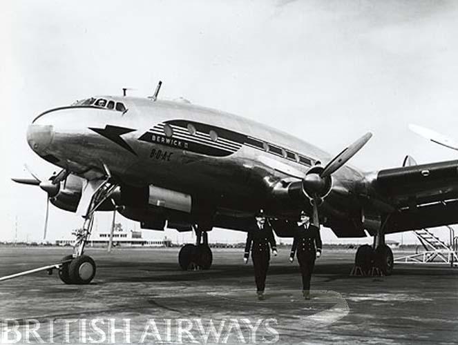 1940s - BOAC Lockheed Constellation G-AHEK Berwick II at Heathrow