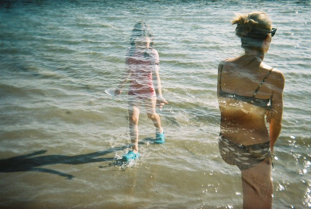 ghost girl returns - Holga 135 double exposure