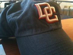I brought my navy Washington Nationals hat with DC on it, to meet with the #Nats executives