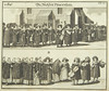 Wedding procession, 1724, from Juedisches Ceremoniel by Center for Jewish History, NYC