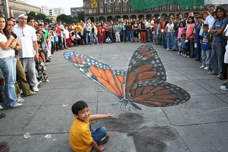 3D chalk drawings 8