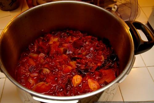 beet borscht, pre puree    MG 1069