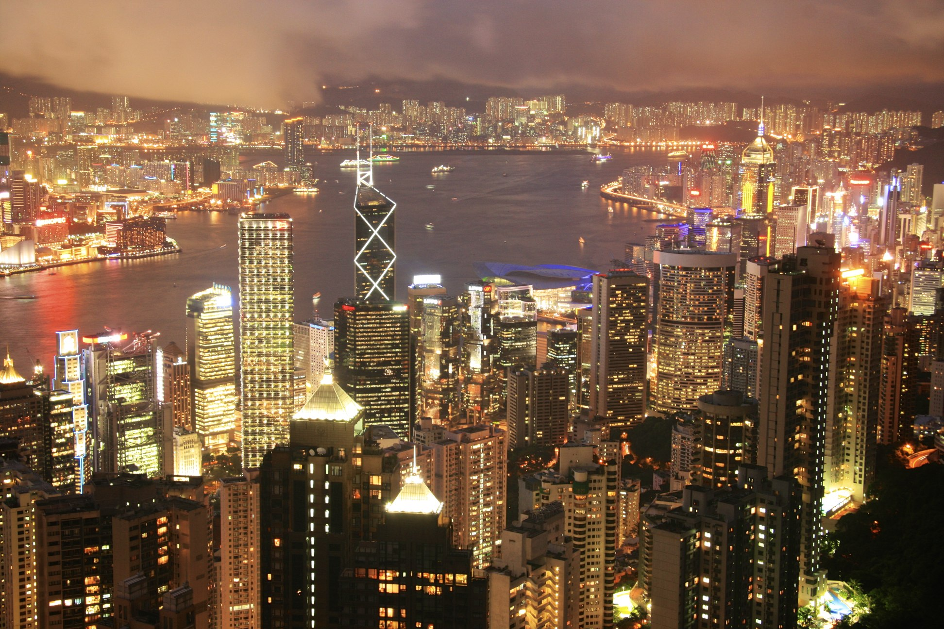 IMG_8226 Hong Kong Harbour Night View. china, hongkong, harbour. buy photo
