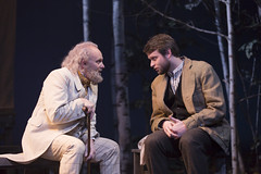 Thomas Derrah and Morgan Ritchie in the Huntington Theatre Company's production of Anton Chekhov's THE SEAGULL.  March 7 - April 6, 2014 at Avenue of the Arts / BU Theatre. huntingtontheatre.org. Photo T. Charles Erickson
