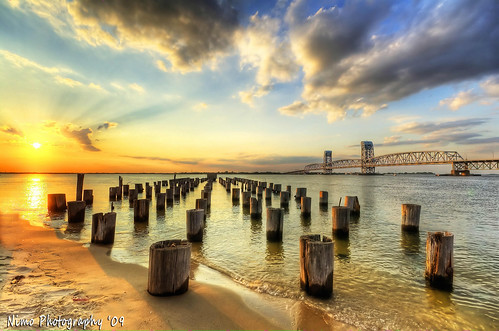 Beautiful decayed Jetty Sunset, Breathtaking in HDR