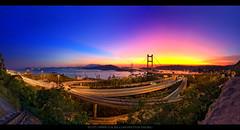 Blazing Tsing Ma Bridge Panorama | 火 焰 青 馬 全 景