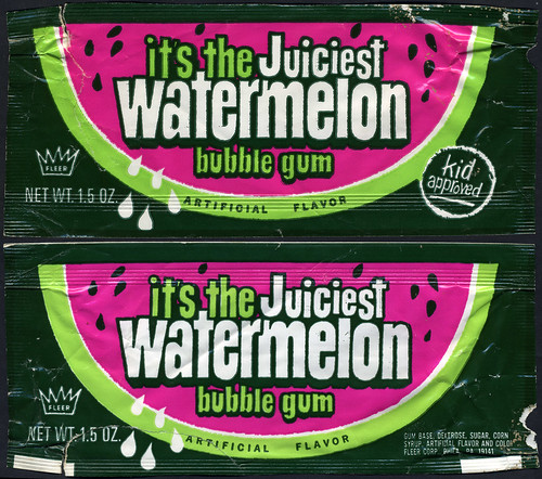 Fleer - it's the Juiciest Watermelon Bubble Gum pack - 1970's