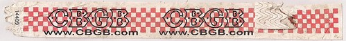 Summer 2006 - CBGB Wristband (Red Checker-Board)