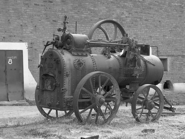 old loco steam boiler
