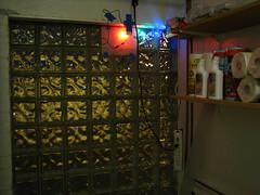 Glass block LED Test - Inside