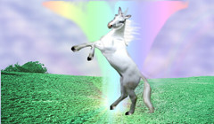 image of unicorn with rainbow