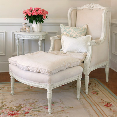 Shabby chic chair and ottoman flickr photo sharing