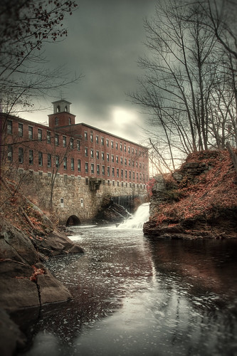 november fall mill water photoshop canon reflections river landscape waterfall industrial day factory cloudy newengland newhampshire greenville canonef1740f4l 40d