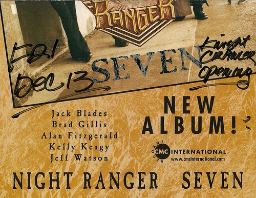 12/13/02 Night Ranger/Knight Crawler @ Maplewood, MN (Poster - Bottom)