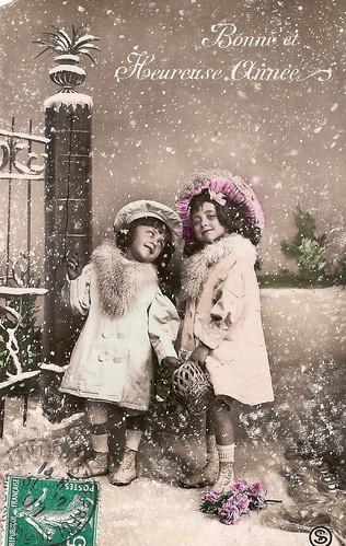 Vintage Postcards - Bonne Annee - 02