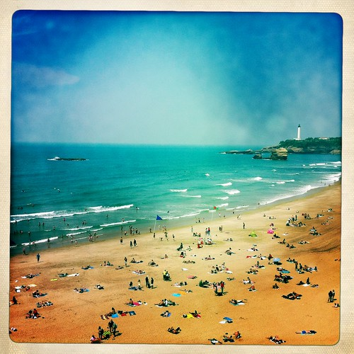 Biarritz beach thru Hipstamatic - Pays basque - France Hipstamatic images