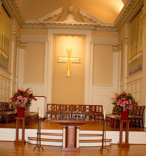 Chapel Altar Wedding Decorations: Altar Decor Perkins Chapel SMU