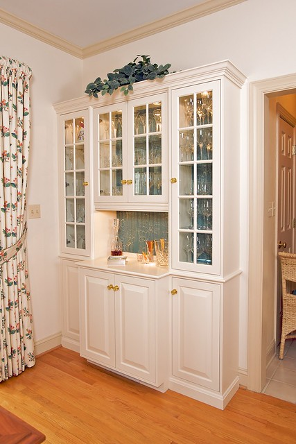 Kitchen built in china cabinet flickr photo sharing for Built in kitchen cabinets