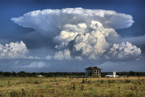 thunderstorm and my cabin in karnes county HDR
