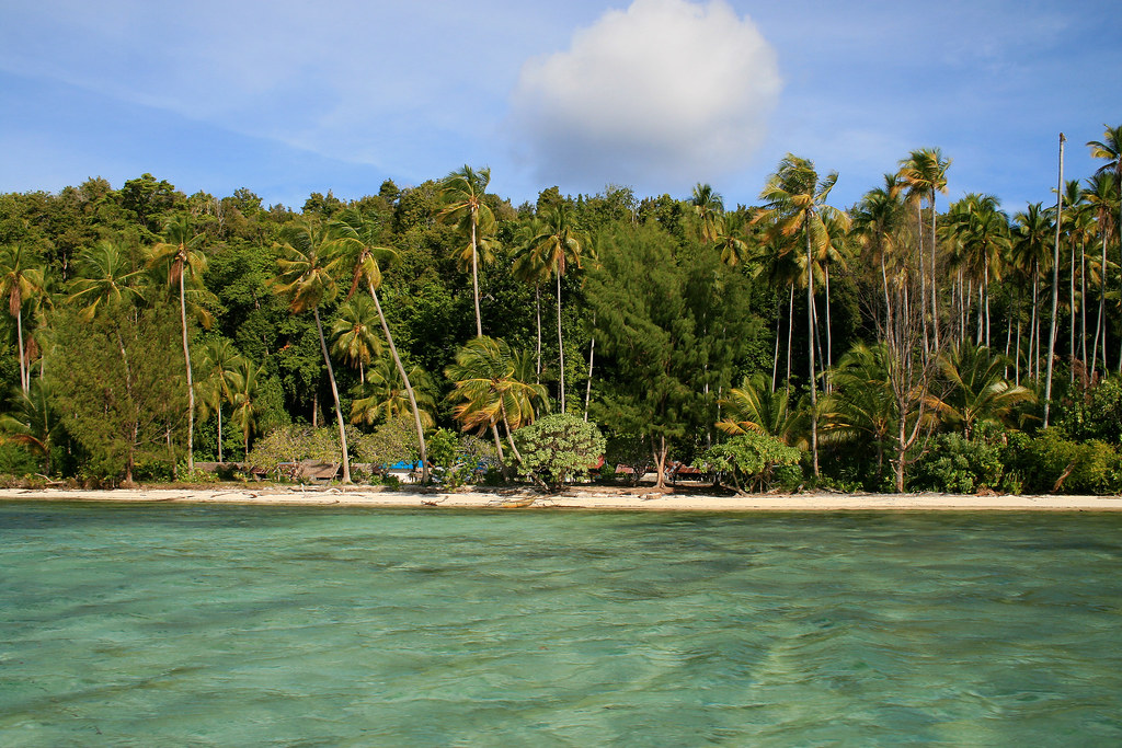 пляж Raja Ampat