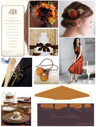 Copper and Plum Wedding by finestationery