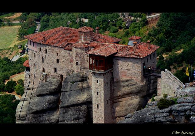 Meteora.The Holy Monastery of Rousanou - St. Barbara - a ...