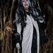 Spooky skeleton woman