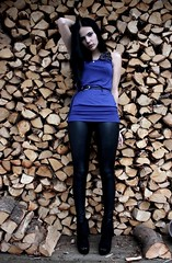 costume(0.0), model(1.0), footwear(1.0), clothing(1.0), leggings(1.0), limb(1.0), leg(1.0), fashion(1.0), female(1.0), photo shoot(1.0), lady(1.0), human body(1.0), thigh(1.0), blue(1.0), beauty(1.0), black(1.0), tights(1.0),