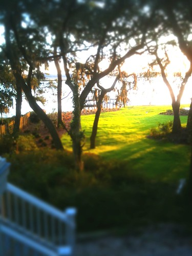 sunrise river beaufort iphone tiltshifted