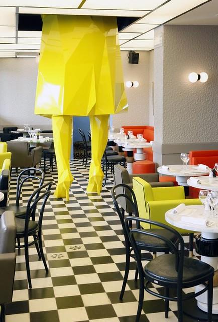 Lichtenstein restaurant design germain by india mahdavi