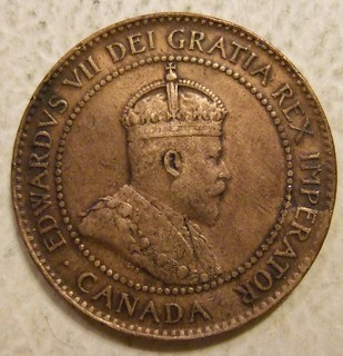 CANADA, EDWARD VII, 1902 ---ONE CENT b