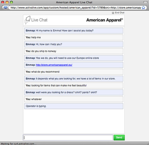 american online chat