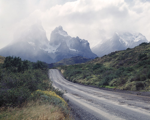 on the road to Torres del Paine