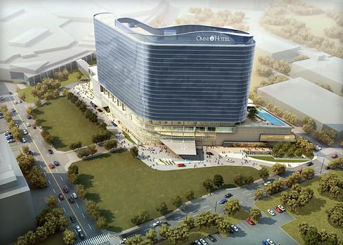 Omni Dallas Convention Center Hotel Aerial View