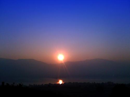 sunset reflection iphone
