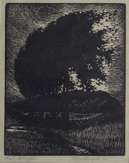 Woodcut by Sigge BERGSTROM 1912