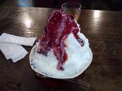 いちごのかき氷