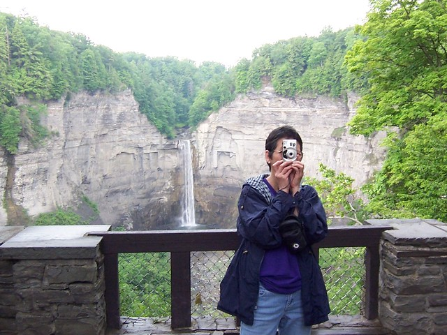 kris takes our photo at  taughannock falls