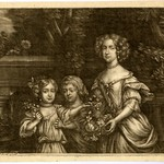 Nell Gwyn, Mistress of King Charles II, with her two sons by the king, Charles and James