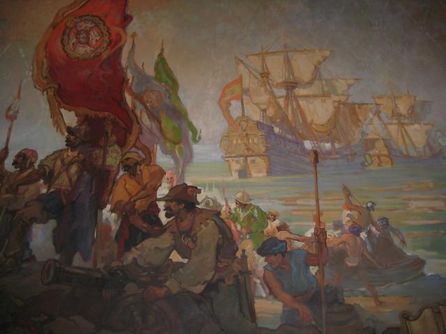 Spanish galleon mural flickr photo sharing for Mural z papiezem franciszkiem