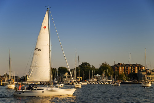 Entering Annapolis Harbor