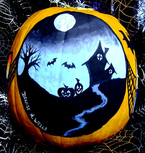 Halloween Facebook Banner Pumpkin Paintings Denise A