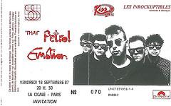 Ticket concert 1987, That petrol emotion