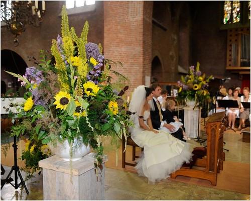 Girasoli Matrimonio Ottobre : Ilaria e bruno sposi fiorista mariangela