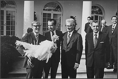 Turkey presentation for Thanksgiving, 11/18/1969 by The U.S. National Archives
