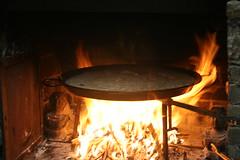masonry oven, fireplace, fire, iron, flame,